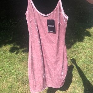 Crushed velvet Forever 21 dress